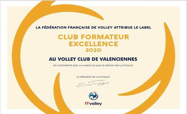 Le VCV club formateur excellence 2020